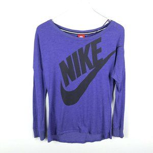 Nike Womens Signal Long Sleeve Logo T Shirt Size S